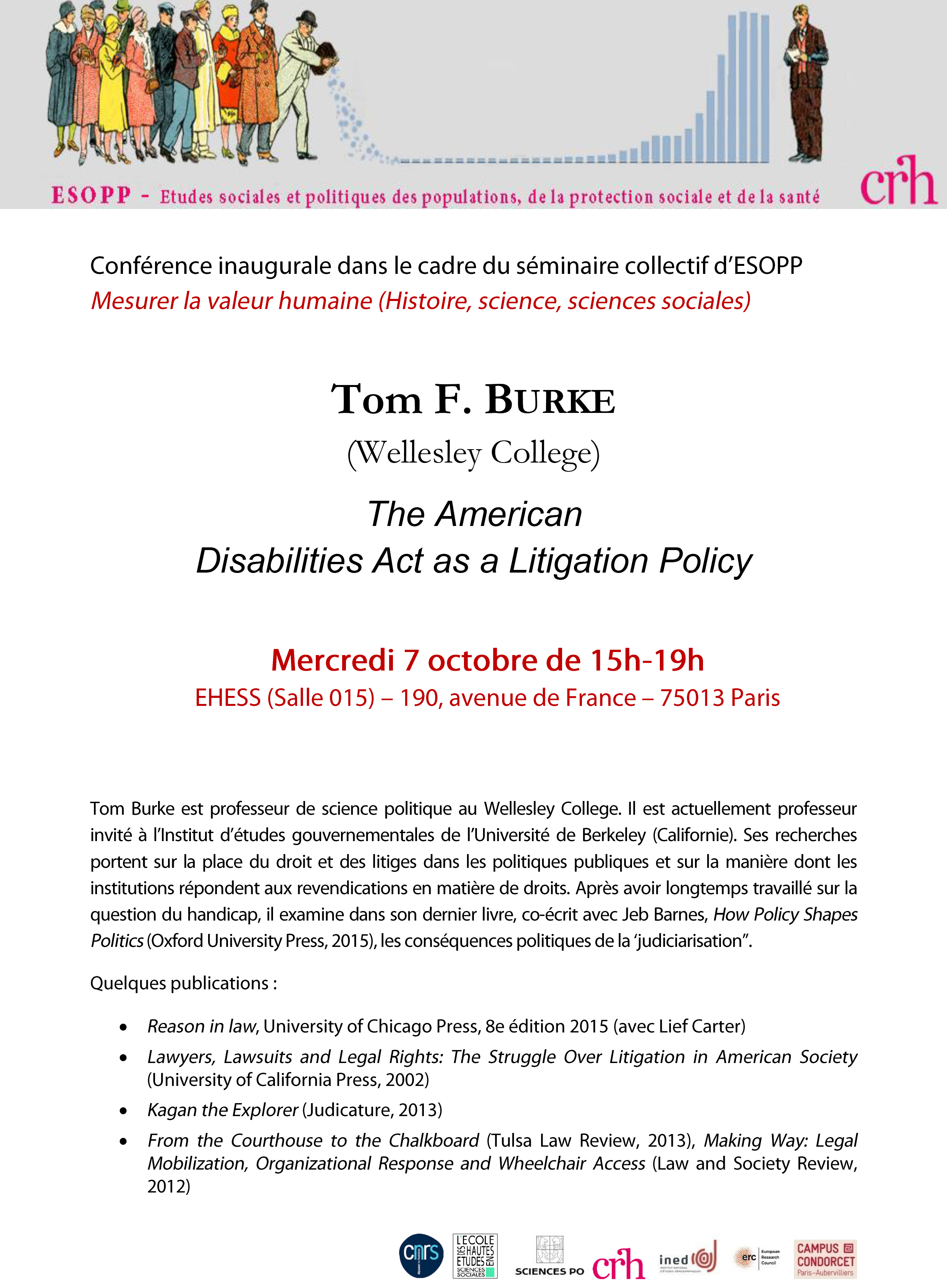 Conférence de Tom Burke : The American Disabilities Act as a Litigation Policy